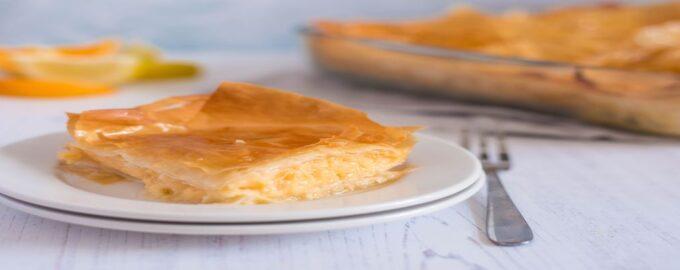 Греческое блюдо Галактобуреко